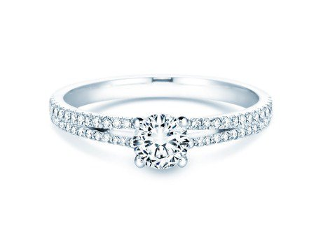 Verlobungsring Dynasty Petite<br />18K Weissgold<br />Diamant 0,85ct