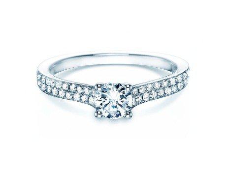 Verlobungsring Claire<br />18K Weissgold<br />Diamant 0,70ct