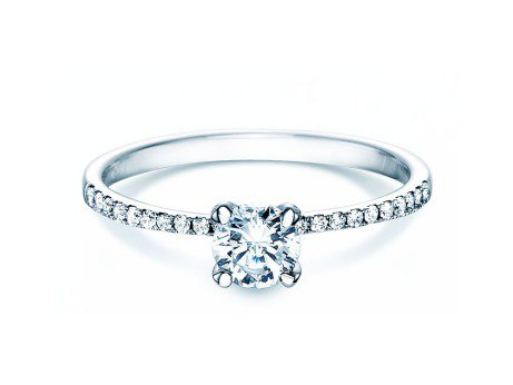 Verlobungsring Grace in 18K Weißgold mit Diamant 0,70ct