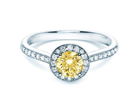 Halo Intense<br />18K Weissgold<br />Diamant 0,78ct