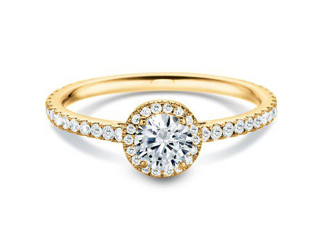Diamantring Pure Infinity<br />18K Gelbgold<br />Diamant 0,95ct