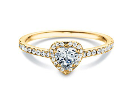 Diamantring Pure Love<br />18K Gelbgold<br />Diamant 0,93ct