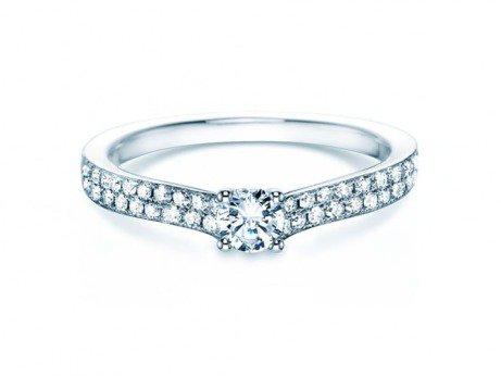 Verlobungsring Claire Petite<br />18K Weissgold<br />Diamant 0,50ct