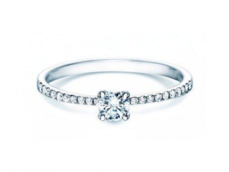 Verlobungsring Grace Petite<br />18K Weissgold<br />Diamant 0,45ct