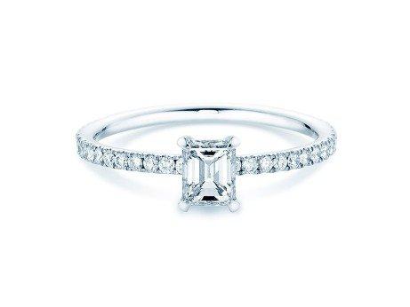 Verlobungsring Elaine<br />18K Weissgold<br />Diamant 0,86ct