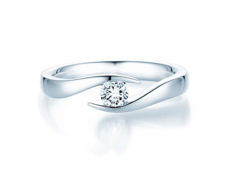 Verlobungsring Twist<br />Platin<br />Diamant 0,25ct