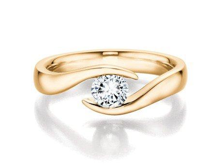 Verlobungsring Twist<br />14K Gelbgold<br />Diamant 0,50ct