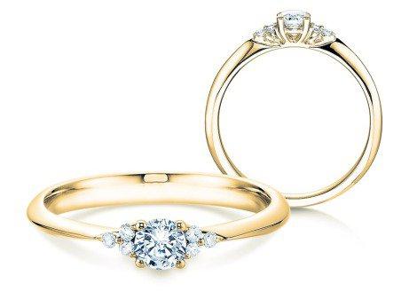 Verlobungsring Glory<br />14K Gelbgold<br />Diamanten 0,31ct