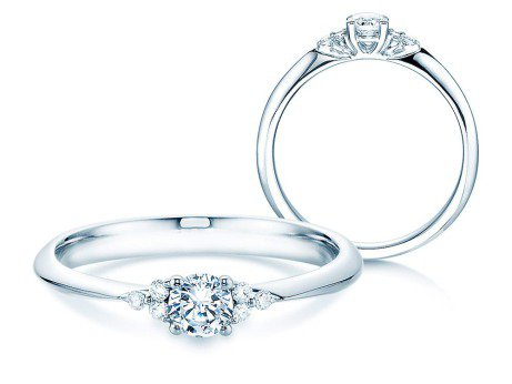 Verlobungsring Glory in Platin mit Diamanten 0,31ct