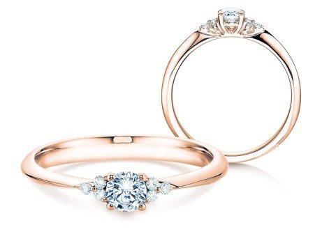 Verlobungsring Glory<br />14K Roségold<br />Diamanten 0,31ct