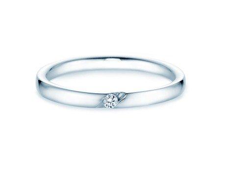 Verlobungsring Italic<br />14K Weißgold<br />Diamant 0,03ct