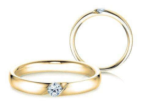 Verlobungsring Italic<br />14K Gelbgold<br />Diamant 0,05ct