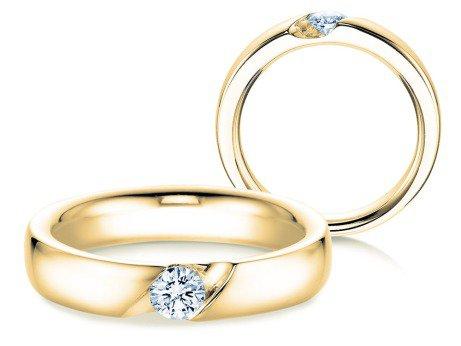 Verlobungsring Italic<br />18K Gelbgold<br />Diamant 0,25ct