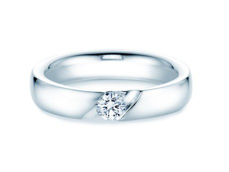Verlobungsring Italic<br />14K Weißgold<br />Diamant 0,25ct