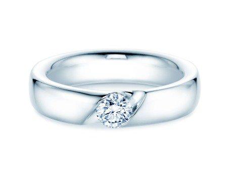 Verlobungsring Italic<br />18K Weißgold<br />Diamant 0,40ct