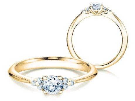 Verlobungsring Glory<br />18K Gelbgold<br />Diamanten 0,43ct