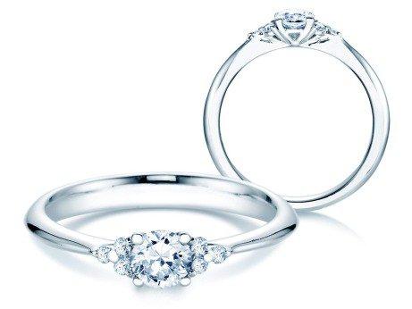 Verlobungsring Glory<br />Platin<br />Diamanten 0,43ct