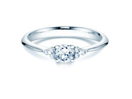 Verlobungsring Glory in Platin mit Diamanten 0,43ct