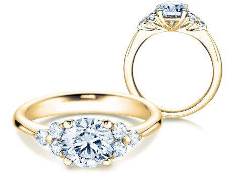 Verlobungsring Glory<br />18K Gelbgold<br />Diamanten 1,80ct
