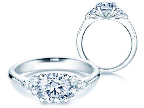 Verlobungsring Glory<br />14K Weißgold<br />Diamanten 1,80ct