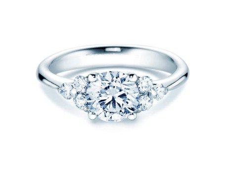 Verlobungsring Glory in Silber mit Diamanten 1,80ct