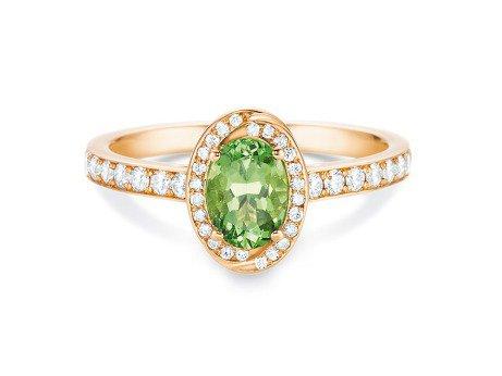 Verlobungsring Passion in 18K Roségold mit Smaragd und Diamanten