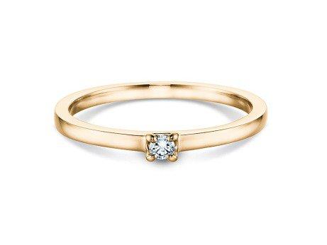 Verlobungsring Modern<br />18K Gelbgold<br />Diamant 0,05ct