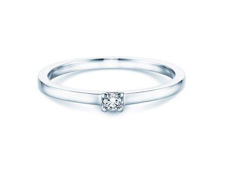 Verlobungsring Modern in 18K Weißgold mit Diamant 0,05ct