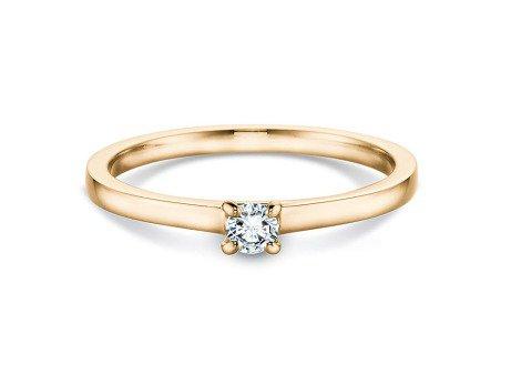 Verlobungsring Modern<br />14K Gelbgold<br />Diamant 0,10ct