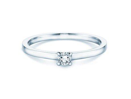 Verlobungsring Modern<br />Silber<br />Diamant 0,10ct