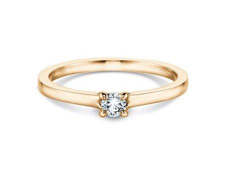 Verlobungsring Modern in 18K Gelbgold mit Diamant 0,15ct