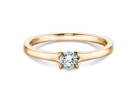 Verlobungsring Modern<br />14K Gelbgold<br />Diamant 0,25ct