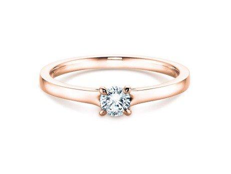 Verlobungsring Modern in 14K Roségold mit Diamant 0,25ct
