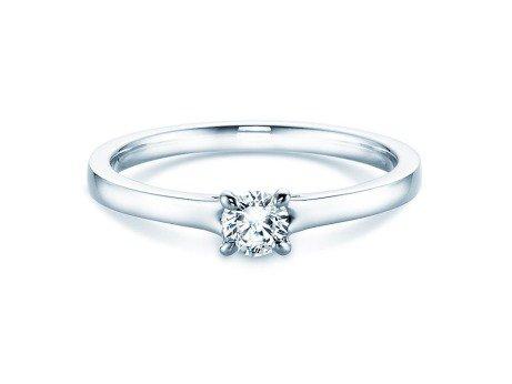 Verlobungsring Modern<br />14K Weißgold<br />Diamant 0,25ct