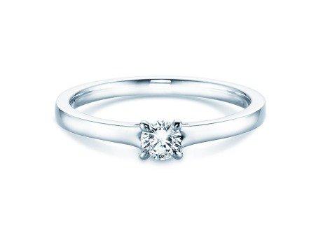 Verlobungsring Modern in Silber mit Diamant 0,20ct