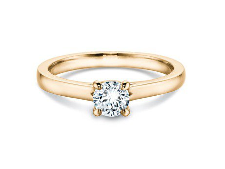 Verlobungsring Modern<br />14K Gelbgold<br />Diamant 0,40ct