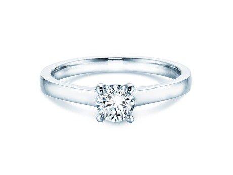 Verlobungsring Modern<br />14K Weißgold<br />Diamant 0,40ct