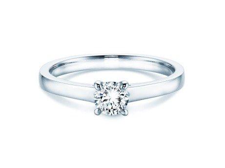 Verlobungsring Modern in Platin mit Diamant 0,30ct