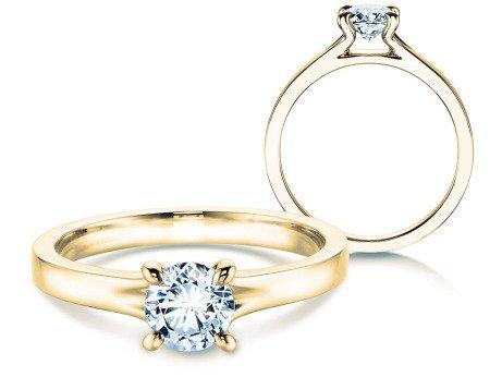 Verlobungsring Modern<br />18K Gelbgold<br />Diamant 0,50ct