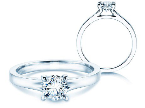 Verlobungsring Modern<br />18K Weißgold<br />Diamant 0,50ct