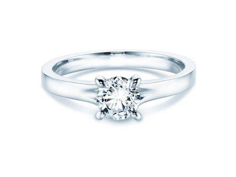 Verlobungsring Modern<br />14K Weißgold<br />Diamant 0,50ct
