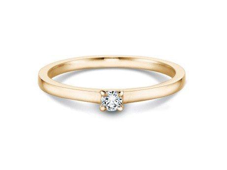 Verlobungsring Modern<br />14K Gelbgold<br />Diamant 0,07ct