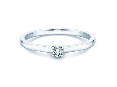 Verlobungsring Modern in Silber mit Diamant 0,07ct