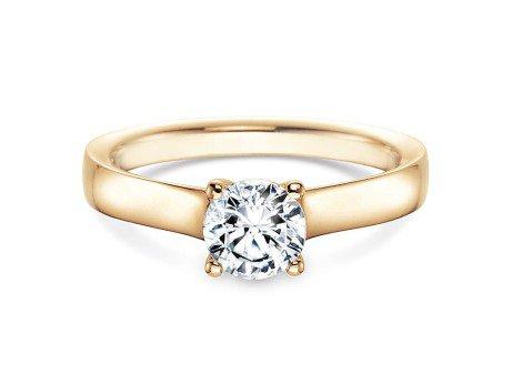 Verlobungsring Modern in 18K Gelbgold mit Diamant 0,75ct