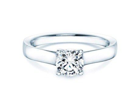 Verlobungsring Modern in Silber mit Diamant 0,75ct