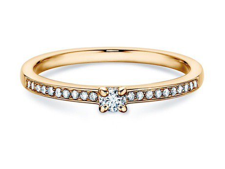 Verlobungsring Modern Pavé<br />14K Gelbgold<br />Diamant 0,05ct