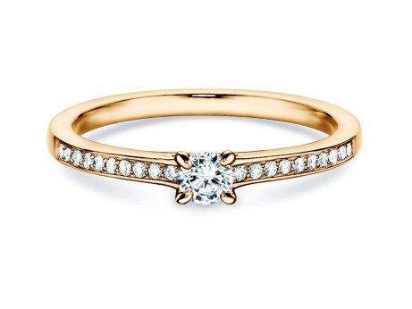 Verlobungsring Modern Pavé<br />14K Gelbgold<br />Diamant 0,15ct