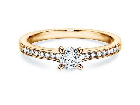 Verlobungsring Modern Pavé in 18K Gelbgold mit Diamant 0,35ct