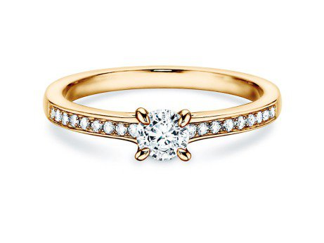Verlobungsring Modern Pavé<br />14K Gelbgold<br />Diamant 0,35ct