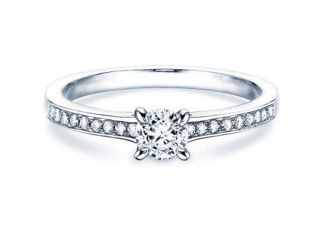 Verlobungsring Modern Pavé<br />18K Weißgold<br />Diamant 0,35ct